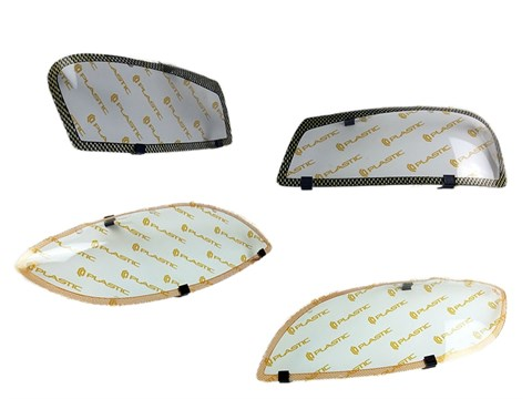 Защита фар Opel Zafira 2006-2011 СА Пластик - фото 21064