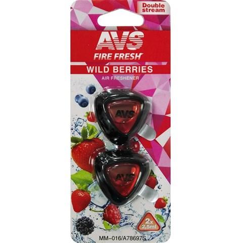 Ароматизатор AVS MM-016 Double Stream (аром. Wild Berries/Дикие ягоды) (мини мембрана) - фото 23731