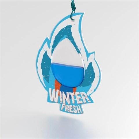 Ароматизатор AVS WDM-008 Fire Fresh (аром. Winter Fresh/Зимняя свежесть) (мембранные) - фото 23752