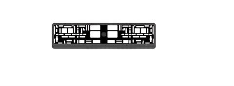 Рамка под номерной знак карбон(тёмный)AVS RN-04 - фото 23883
