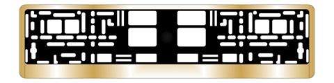 Рамка под номерной знак хром (золото)AVS RN-13 - фото 23886