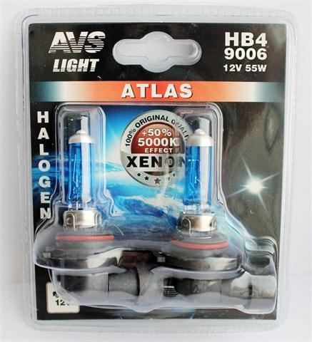 Лампа автомобильная галогенная AVS Atlas НВ4 12V 51W 2шт. - фото 23914