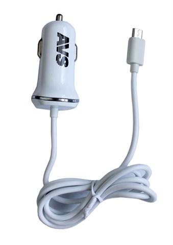 Автомобильное зарядное устройство AVS с micro USB  CMR-211 1200мA - фото 24583