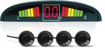 Парктроник PS-124U (4 датчика+коннекторы, цветной светодиодный дисплей с цифровым табло) - фото 24743