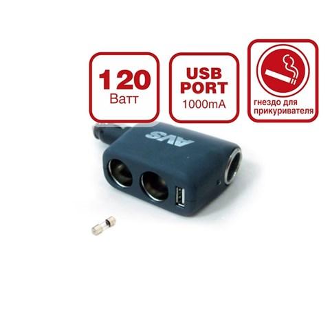 Разветвитель прикуривателя 12/24 (на 3 выхода+USB) CS 311U - фото 24798