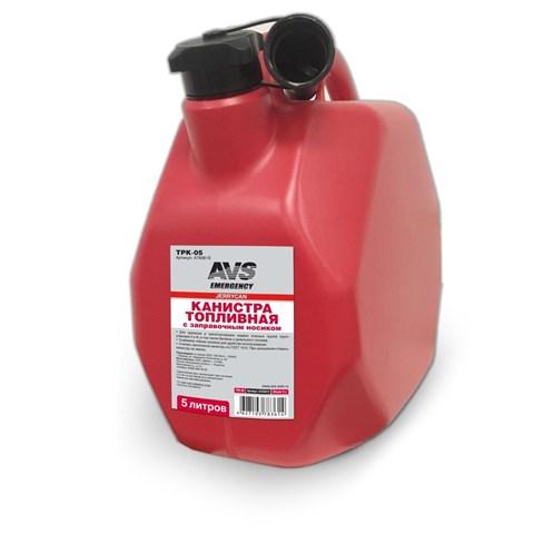 Канистра топливная пластик.5л.(красная) AVS MTK-05 - фото 29248