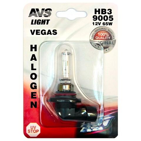 Автолампа галогенная AVS Vegas HB3/9005 12V 60W в блистере 1шт. - фото 30106