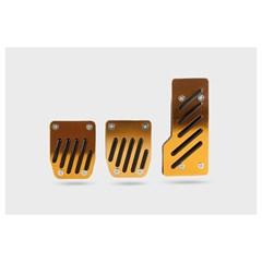Накладки на педали AZARD 1044 черно-желтые