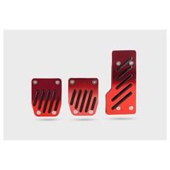 Накладки на педали AZARD 1044 черно-красные