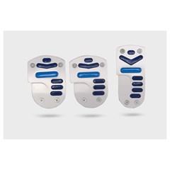 Накладки на педали AZARD 1045 синие