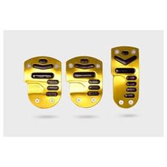 Накладки на педали AZARD 1045 черно-желтые