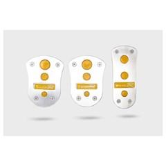 Накладки на педали AZARD 1051 желтые