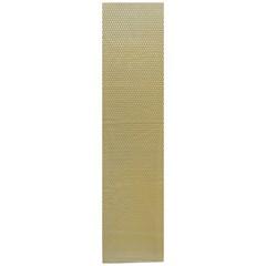 Сетка алюминиевая в бампер 100х25 см ромб средняя ячейка желтая