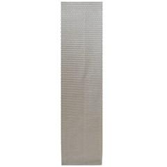Сетка алюминиевая в бампер 100х25 см соты серебристая