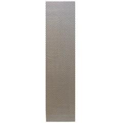 Сетка алюминиевая в бампер 100х25 см ромб крупная ячейка серебристая